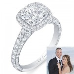 Ashley Hebert's Cushion Cut Engagement Ring