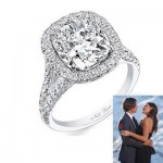 Courtney Robertson's Cushion Cut Engagement Ring
