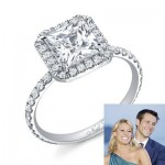 Vienna Girardi's Princess Cut Engagement Ring