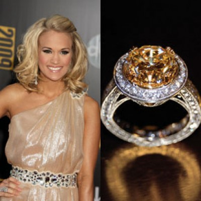 carrie underwood yellow diamond engagement ring uneek