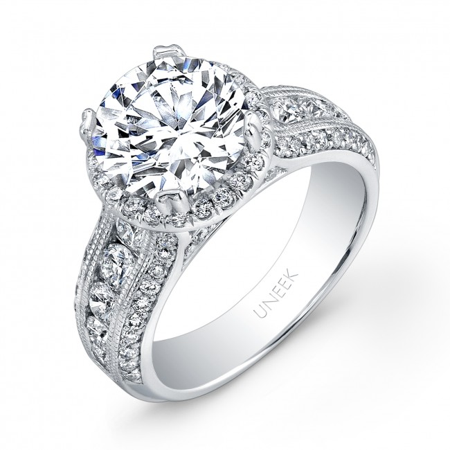 unity collection 14k white gold and diamond halo