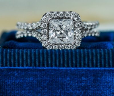 Princess Halo Engagement Ring from Uneek