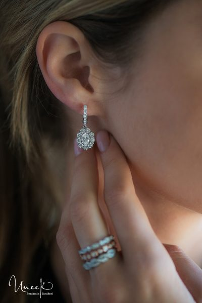uneek fine jewelry diamond fashion collection earrings and stackable rings