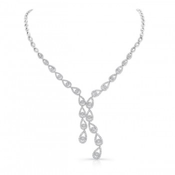 18K White Gold Diamond Necklace LVND06
