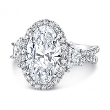 """The """"Sophistication"""" Silhouette Ring/LVS983OV"""