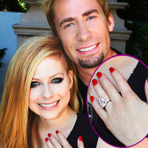 Avril Lavigne Shows Off Her 14 Carat Diamond Engagement Ring With Chad  Kroeger