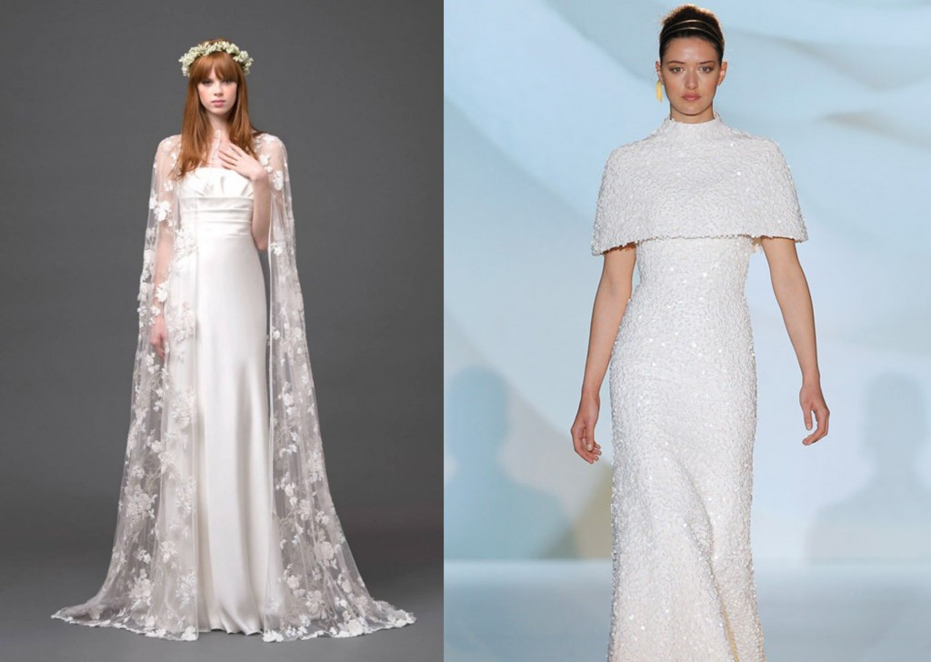 Wedding Gown With Cape: Most Beautiful Wedding Dress Trends Of Fall 2015