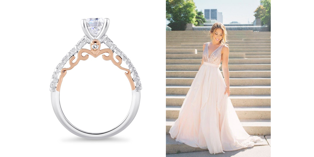 875a0f5875a86 Tickled Pink: Rose Gold Bridal Dresses and Two-Tone Rings