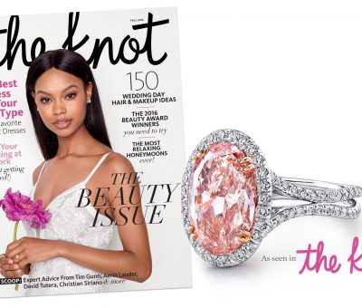 Uneek pink diamond engagement ring in The Knot