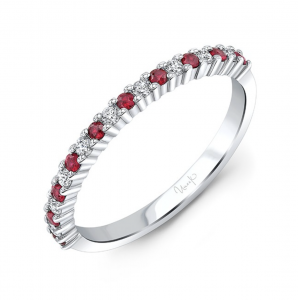 Ruby and Diamond Stackable Ring