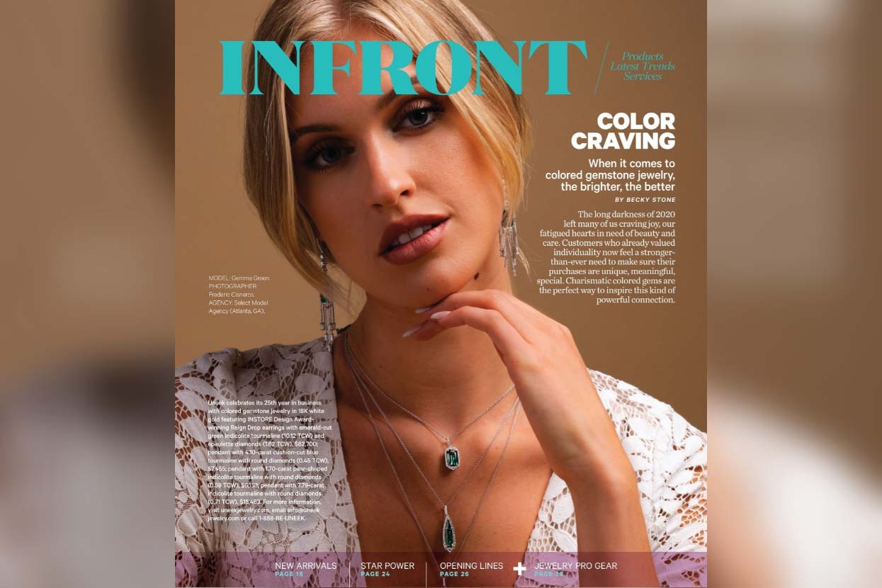 Uneek graces the InFront Section Cover of INSTORE Magazine February 2021 Issue