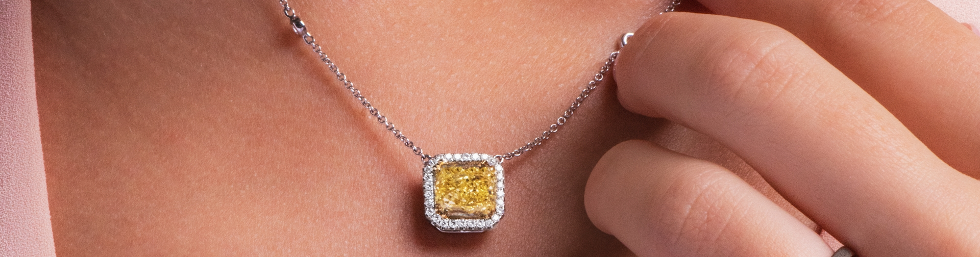 Colored Diamond Pendants and Necklaces