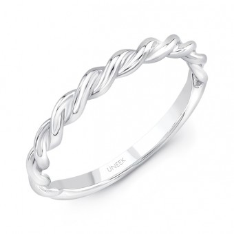 """Uneek """"Doheny II"""" Stackable Band (White Gold version)"""