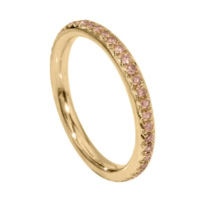 Natureal Collection 18K Rose Gold Pink Diamond Band LVB043