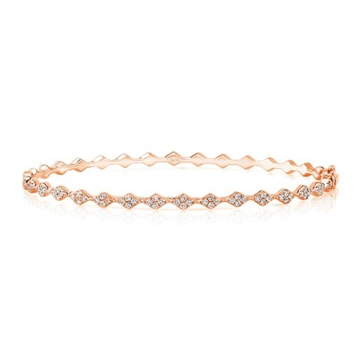 "Uneek ""Mulholland"" Stackable Diamond Bangle, Yellow Gold"