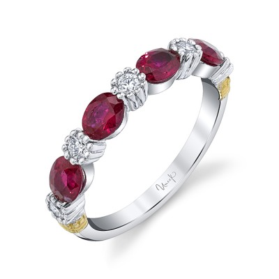 Uneek Ruby Fashion Ring, in 18K White Gold