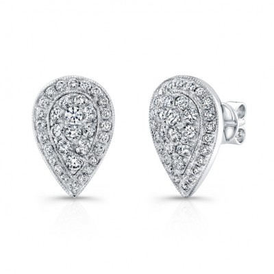 diamond earrings f itm stud vs gold ebay pear white shaped details shape