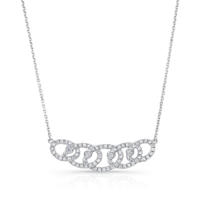 Uneek Diamonds Necklace, in 14K White Gold