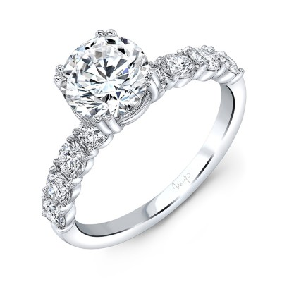 Uneek Diamond Engagement Ring, in 14K White Gold