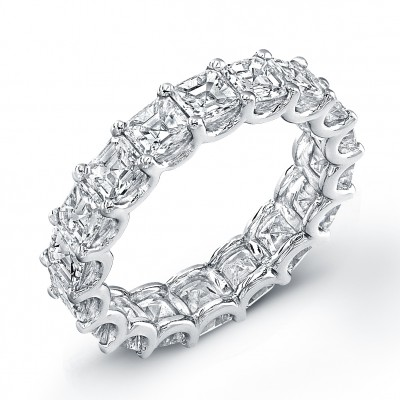 Uneek Asscher Cut Diamond Eternity Band, in Platinum