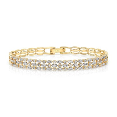 diamond yellow carat italian bangles i bracelet tradesy diamonsy gold bangle