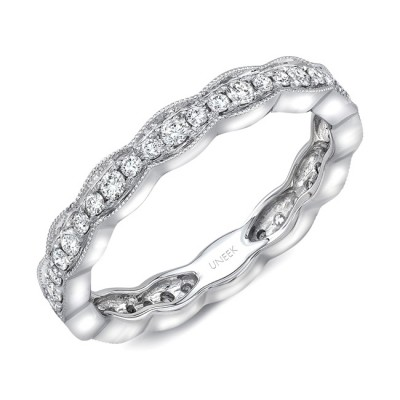 """Uneek """"Highland"""" Stackable Diamond Band (White Gold version)"""