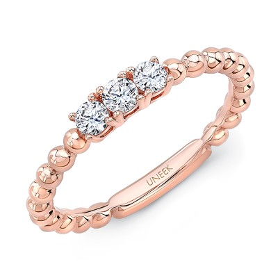 "Uneek ""Harper"" Stackable Diamond Band (Rose Gold version)"