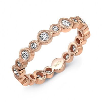 "Uneek ""Sierra Bonita II"" Stackable Diamond Band (Rose Gold version)"
