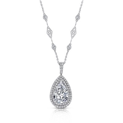 watch diamond necklace pendant broumand shaped youtube pear mark