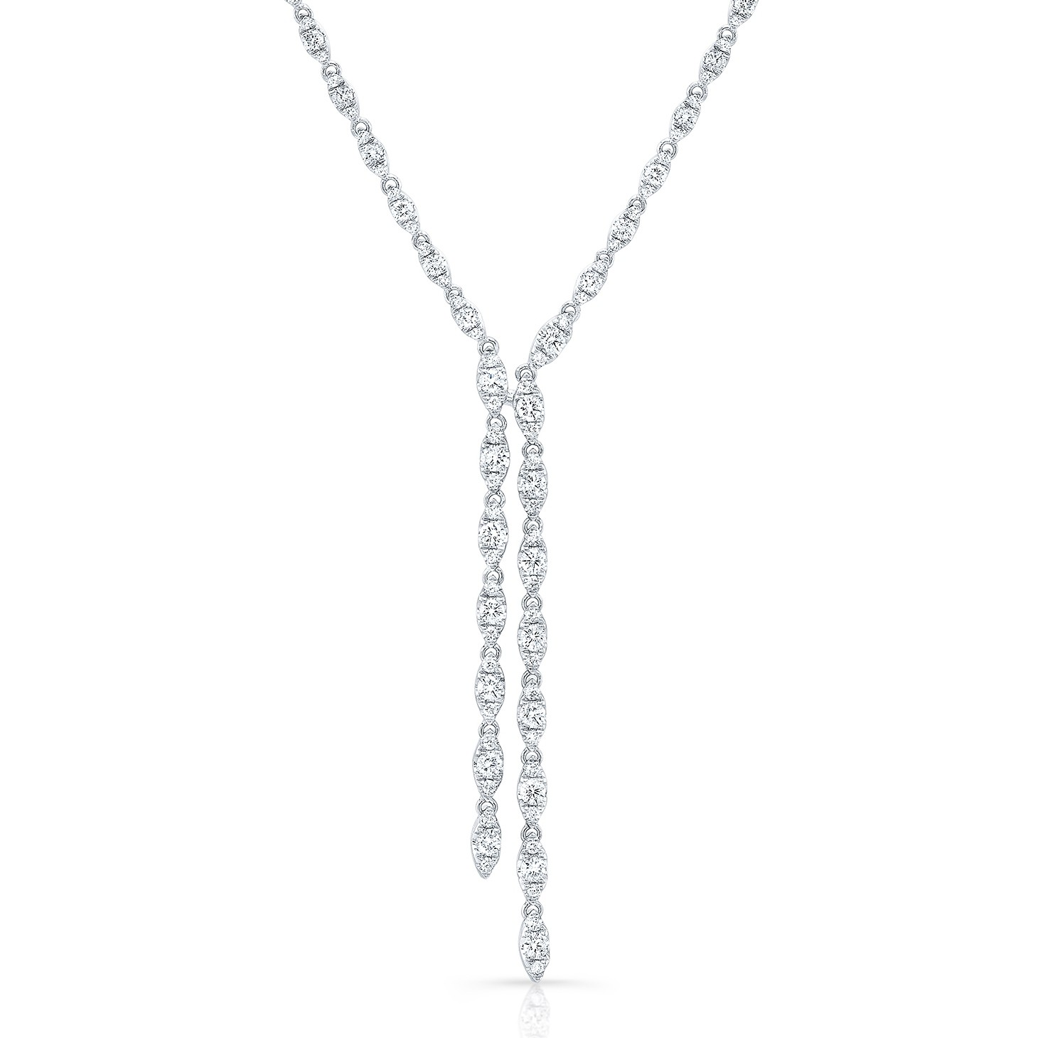 Uneek Diamond Necklace, in 14K White Gold