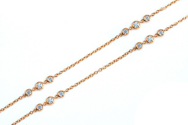 Uneek Necklace, in 18K Rose Gold