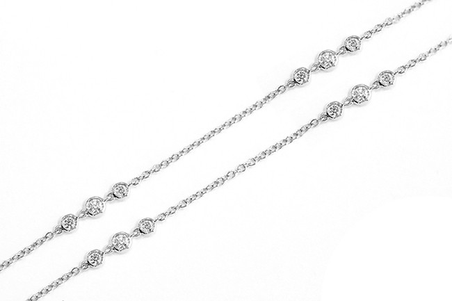 Uneek Necklace, in 18K White Gold