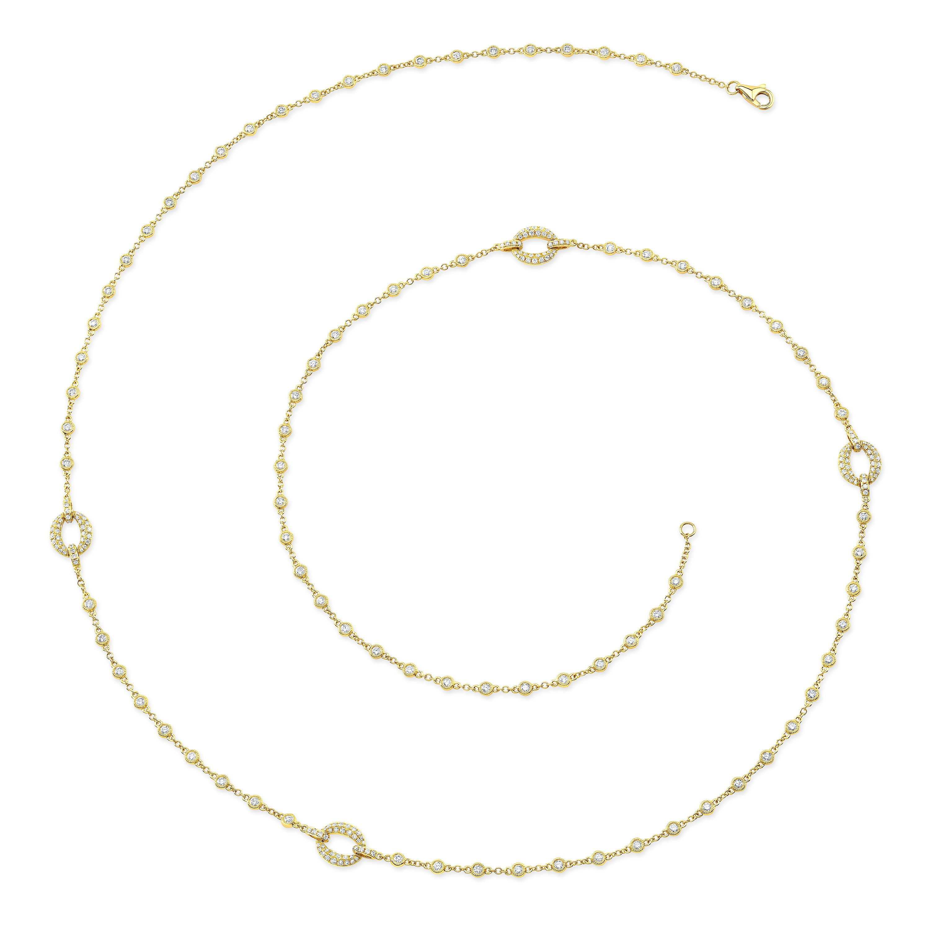 Uneek Diamond Chain Necklace, in 18K Yellow Gold