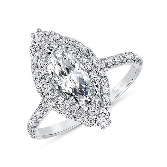 Uneek Petals Marquise Diamond Engagement Ring, in 14K White Gold - SWS232DHDS-10X5MQ