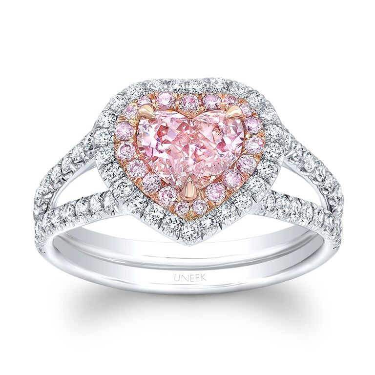 pink diamond wedding ring uneek shaped fancy orange pink ring with 6576