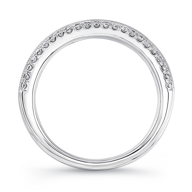 1632826c79d Uneek Wide Wedding Band with Three-Row Channel- and Pave-Set Melees
