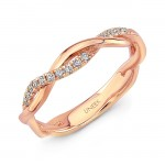 "Uneek ""Loma Linda"" Stackable Diamond Band (Rose Gold version)"