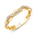 "Uneek ""Mansfield"" Stackable Diamond Band (Yellow Gold version)"