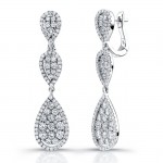Uneek 18K White Gold and Diamond Earrings E228