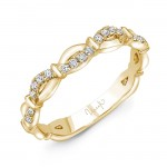 """Uneek """"Mansfield"""" Stackable Diamond Band (Rose Gold version)"""