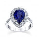 Uneek Pear Engagement Ring, in Platinum