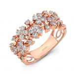 "Uneek LVBW2162 ""Duchesse"" Open Lace Diamond Band in Rose"