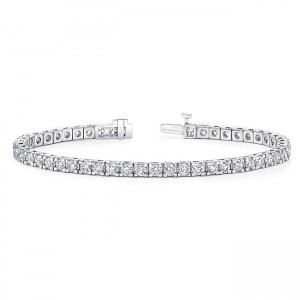 Uneek Tennis Bracelet in 14K White Gold - BR2004DP