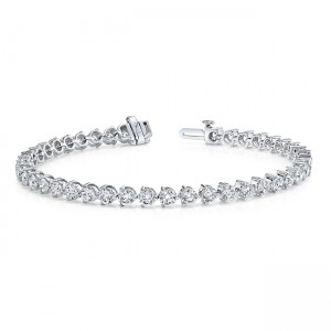 Uneek Diamond Bracelet, in 14K White Gold