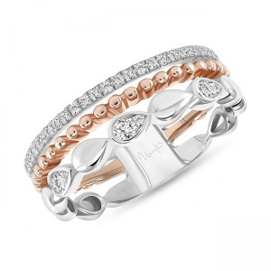 Uneek Diamond Fashion Ring, in 14K Rose Gold