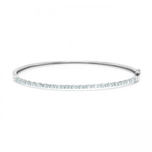 Uneek Bangle, in 14K White Gold