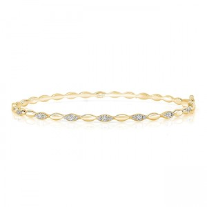 "Uneek ""Silver Lake"" Stackable Diamond Bangle, White Gold version"