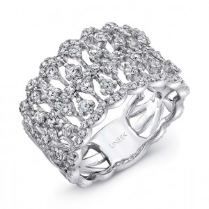 Uneek Cline Open Lace Diamond Band In 14k White Gold