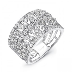 "Uneek LVBW9789W ""Coralline II"" Open Lace Diamond Band"