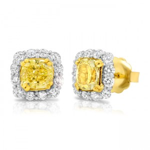 champagne front stud pave earrings diamond champaigne colored cognac pav